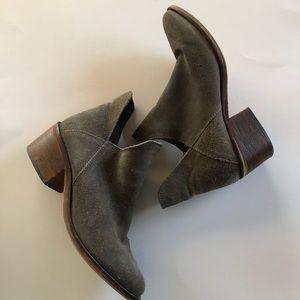 Gray Leather Zara Booties Size 9